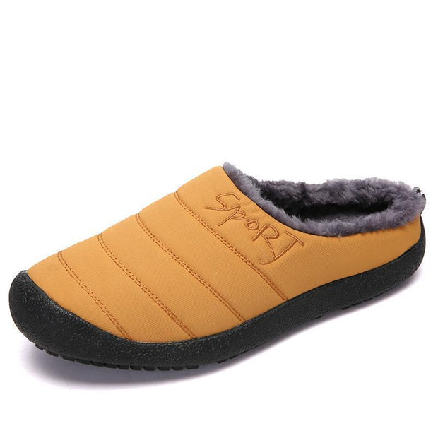Women No-Slip Fur Lined Cotton Shoes 117386 Yellow / Us 5