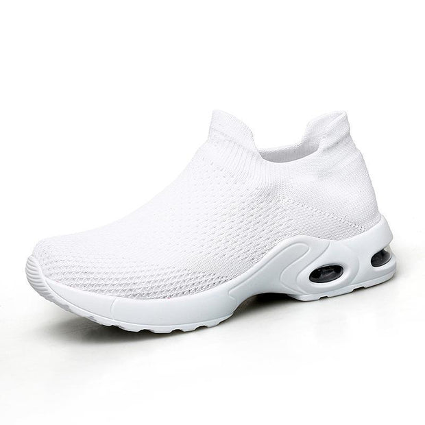 Women Sneakers Shoes Flat Slip On Platform For Women Breathable Mesh Sock 117398 White / Us 4 Shoes