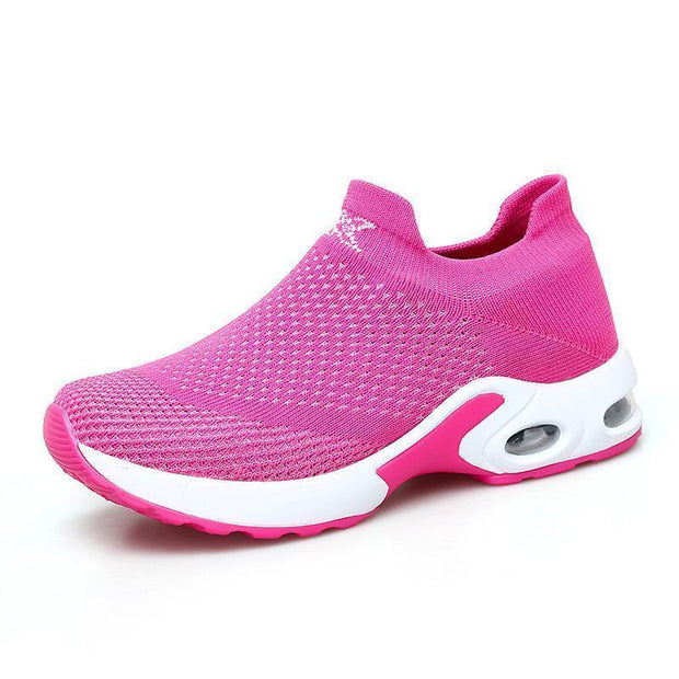 Women Sneakers Shoes Flat Slip On Platform For Women Breathable Mesh Sock 117398 Red / Us 4 Shoes