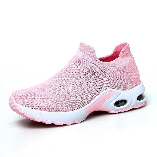 Women Sneakers Shoes Flat Slip On Platform For Women Breathable Mesh Sock 117398 Pink / Us 4 Shoes