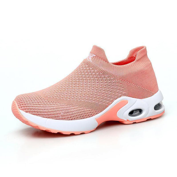 Women Sneakers Shoes Flat Slip On Platform For Women Breathable Mesh Sock 117398 Orange / Us 4 Shoes