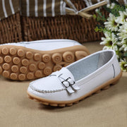 Women Casual Moccasins Buckle Strap Flat Shoes Loafers