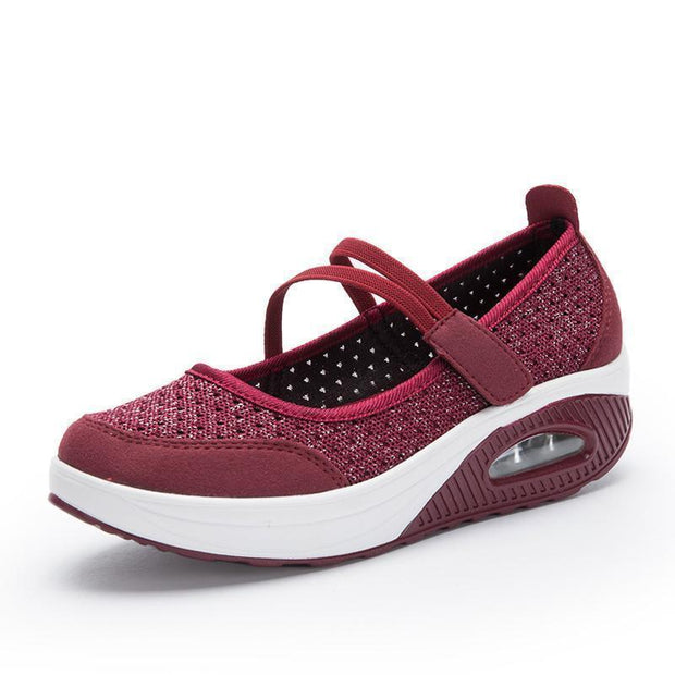 Womens Flying Woven Cushion Nurse Sneakers 117985 Red / Us 4 Women Shoes