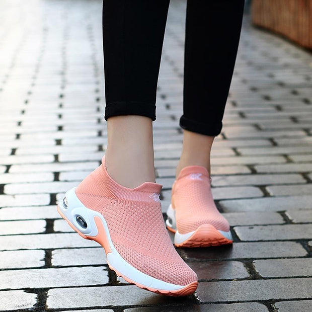Female Breathable Lightweight Flying Woven Air Cusion Sneakerssecond -30% By Codebts30 Women Shoes