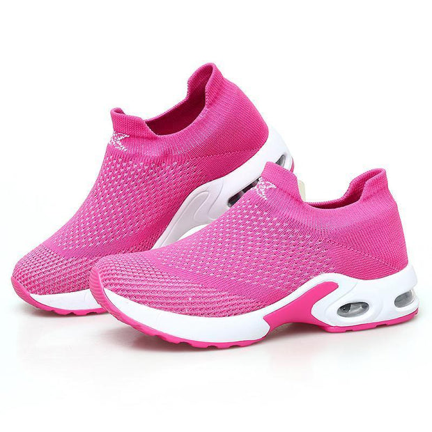 Female Breathable Lightweight Flying Woven Air Cusion Sneakerssecond -30% By Codebts30 118003 Rose