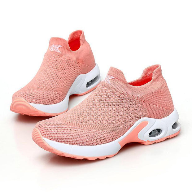 Female Breathable Lightweight Flying Woven Air Cusion Sneakerssecond -30% By Codebts30 118003 Orange