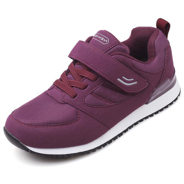 Safety And Comfort Womens Shoes Non-Slip Soft Bottom Middle-Aged Sports 118188 Purple / Us 4 Women