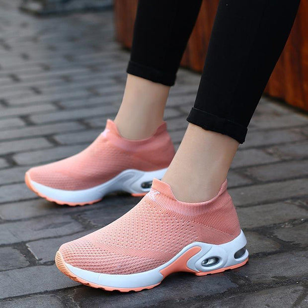 Women Sneakers Shoes Flat Slip On Platform For Women Breathable Mesh Sock 117398 Shoes