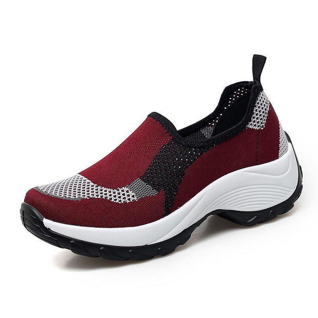 Women Platform Mesh Sneakers 118451 Red / Us 4 Shoes