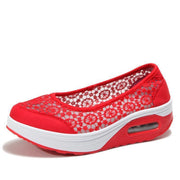 Womens Lace Breathable Slip On Platform Shoessecond -30% By Codebts30 118648 Red / Us 4 Women Shoes