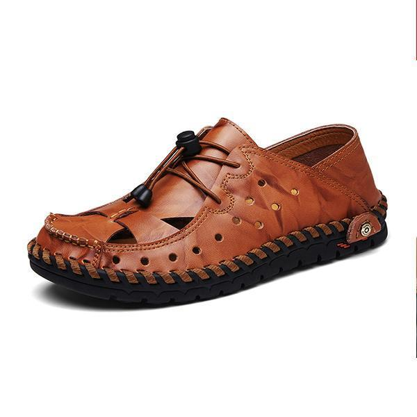 Mens Outdoor Hole Shoes Sandals 118731 Red Brown / Us 6 Men Shoes