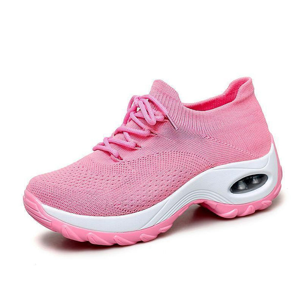 Womens Flying Woven Non-Slip Breathable Comfortable Shoessecond -30% By Codebts30 119163 Pink / Us 4