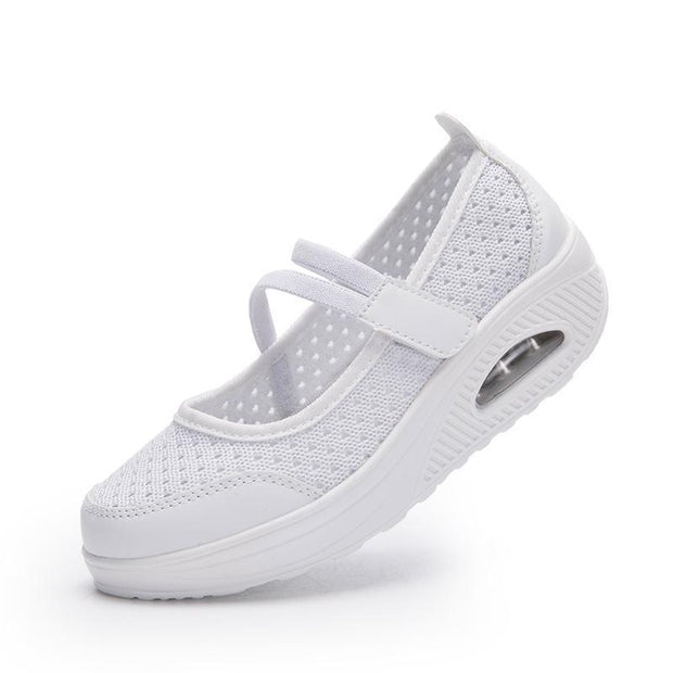Womens Flying Woven Cushion Nurse Sneakers Women Shoes