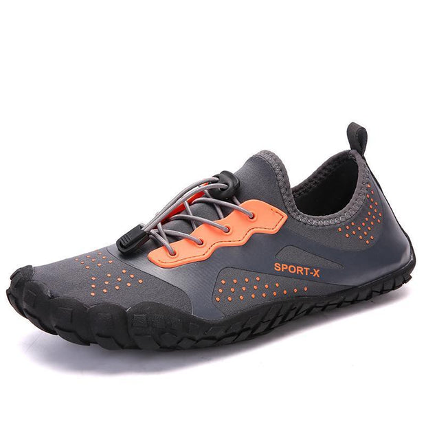 Men Breathable Aqua Barefoot Water Shoes 119624 Gray Orange / Us 5