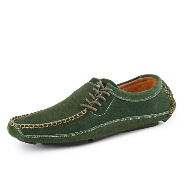 Mens Shoes Casual Fashion Peas Suede Leather Loafers Moccasins Flats Driving 119660 Green / Us 6.5