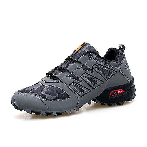 Mens Hiking Shoes Outdoor Male Sneakers Breathable Trekking Mountain Sports Climbing 119662 Gray /