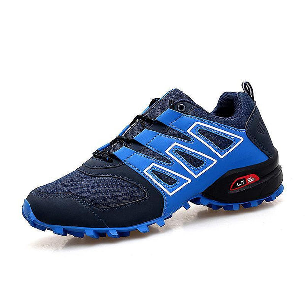 Mens Hiking Shoes Outdoor Male Sneakers Breathable Trekking Mountain Sports Climbing 119662 Blue /
