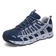 Mans Breathable Flying Woven Hiking Shoes 120559 Blue / Us 6.5 Men
