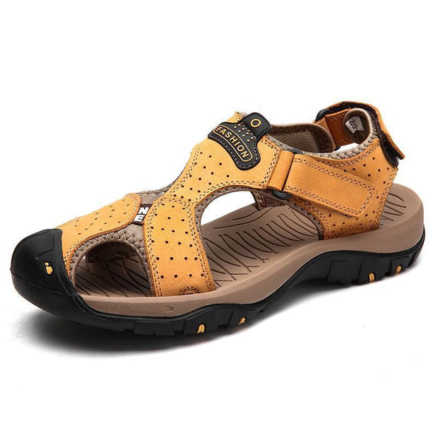 Men Summer Sandals Casual Shoes Man Roman Style Beach Brand Spring Big Size 39-47 120712 Yellow / Us