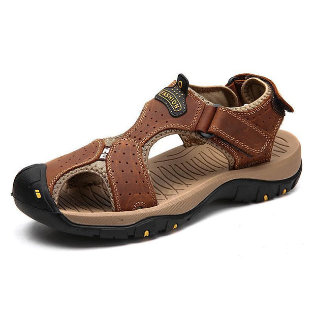 Men Summer Sandals Casual Shoes Man Roman Style Beach Brand Spring Big Size 39-47 120712 Brown / Us