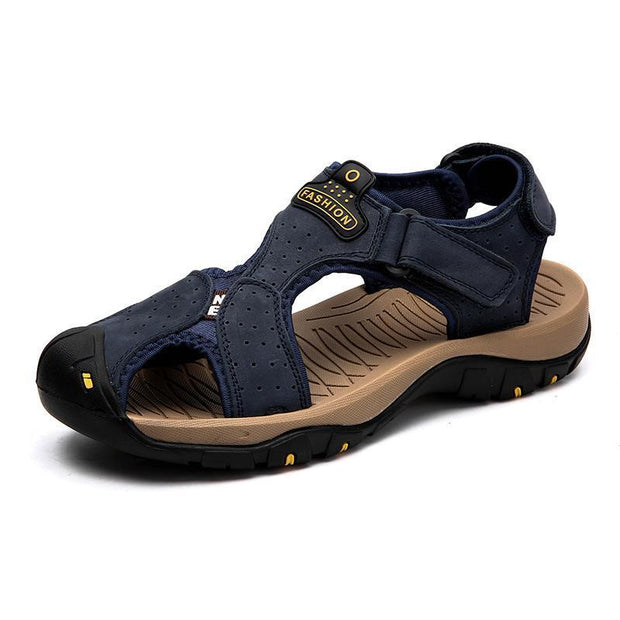 Men Summer Sandals Casual Shoes Man Roman Style Beach Brand Spring Big Size 39-47 120712 Blue / Us 6