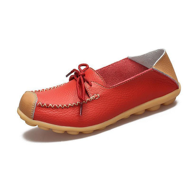 Womens Non-Slip Soft Flats Loafers 120734 Red / Us 4 Women Shoes