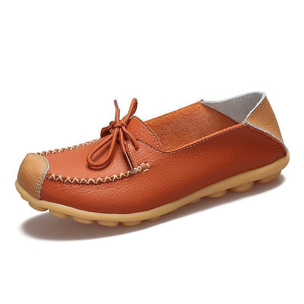 Womens Non-Slip Soft Flats Loafers 120734 Orange / Us 4 Women Shoes