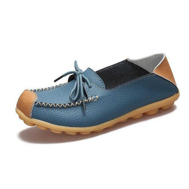 Womens Non-Slip Soft Flats Loafers 120734 Blue / Us 4 Women Shoes
