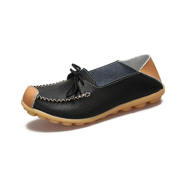 Womens Non-Slip Soft Flats Loafers 120734 Black / Us 4 Women Shoes