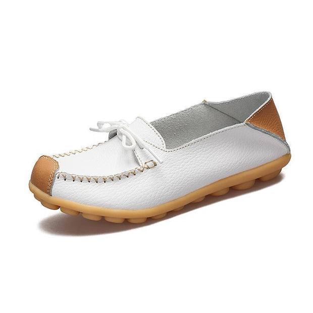Womens Non-Slip Soft Flats Loafers 120734 White / Us 4 Women Shoes