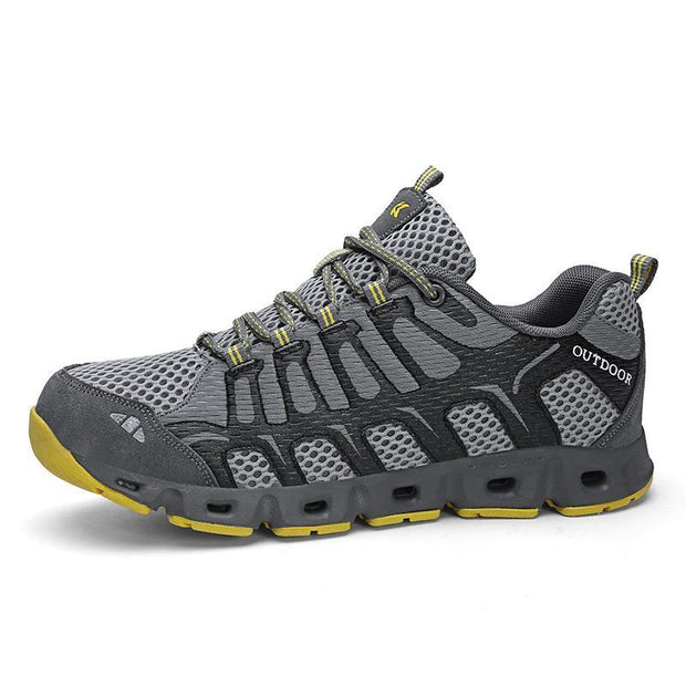 Mans Breathable Flying Woven Hiking Shoes 120559 Gray / Us 6.5 Men