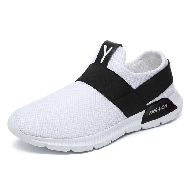 Mens Sneakers Breathable Athletic Running Walking Gym Casual Shoes 121079 White / Us 7 Men