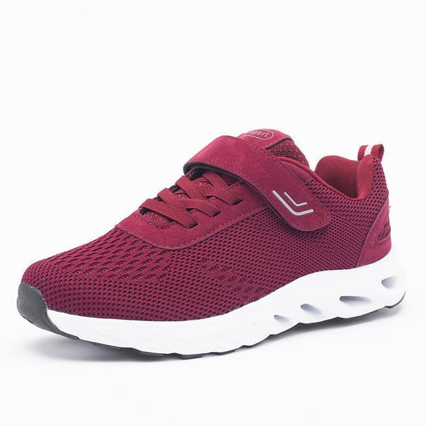 Women Breathable Travel Walking Sneakers 121290 Red / Us 5 Shoes