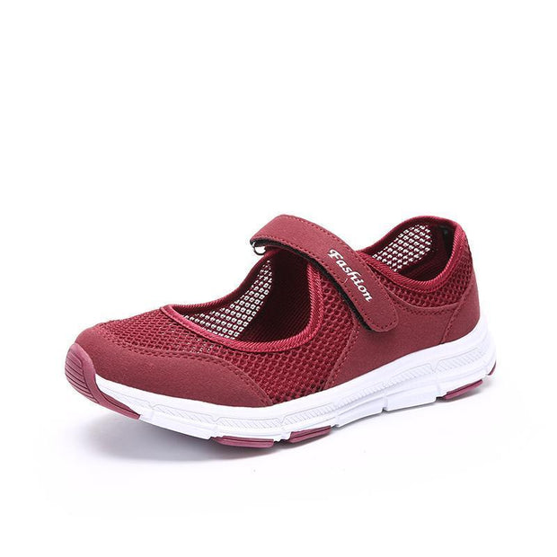 Womens Shoes Light Soft Comfortable Non-Skid For The Elderly Eurse Casual Sneakers 121345 Purplish