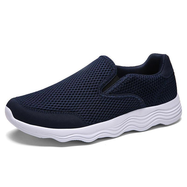 Mens Mesh Casual Shoes Light Quality Walking Breathable For The Elderly 121883 Blue / Us 6.5 Men