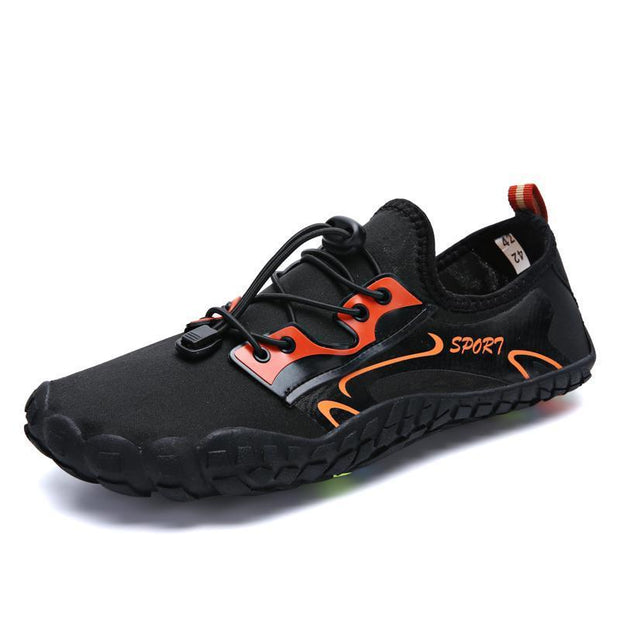 New Mens Water Shoes Quick-Drying Light Soft Breathable Non-Slip Beach Swimming 122025 Black / Us