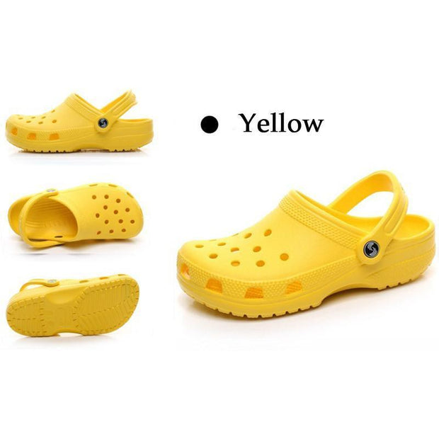 New Mens Hole Shoes Beach Couple Sandals Casual Garden Jelly 122056 Yellow / Us 5 Men