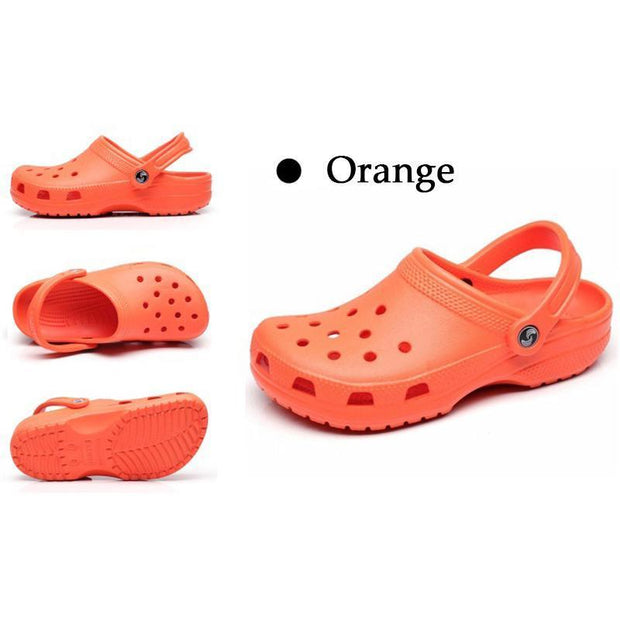 New Mens Hole Shoes Beach Couple Sandals Casual Garden Jelly 122056 Orange / Us 5 Men