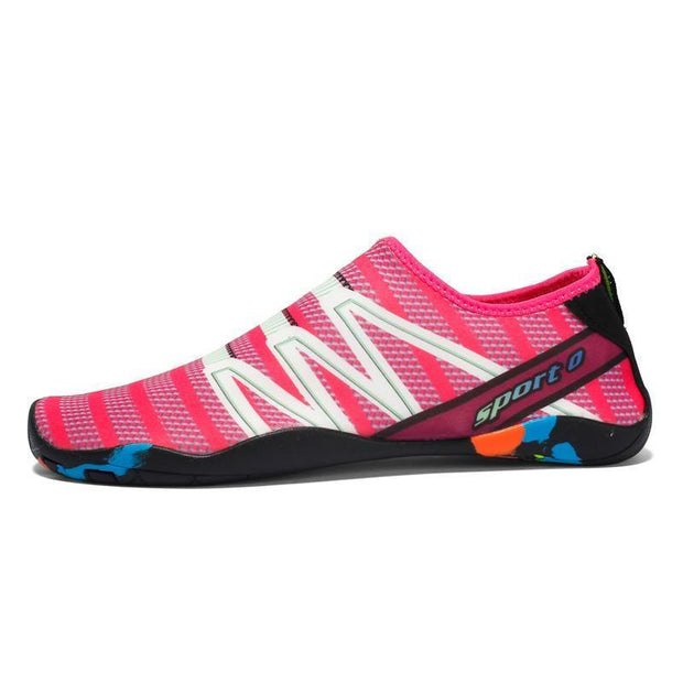 Fashion Womens Quick-Drying Breathable Water Shoes Outdoor Sports Beach Diving Climbing 122147 Rose