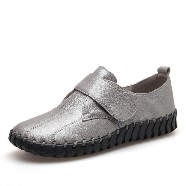 Women Hand-Sewn Soft Soles Single Shoes Comfortable Casual 122387 Silvery / Us 4