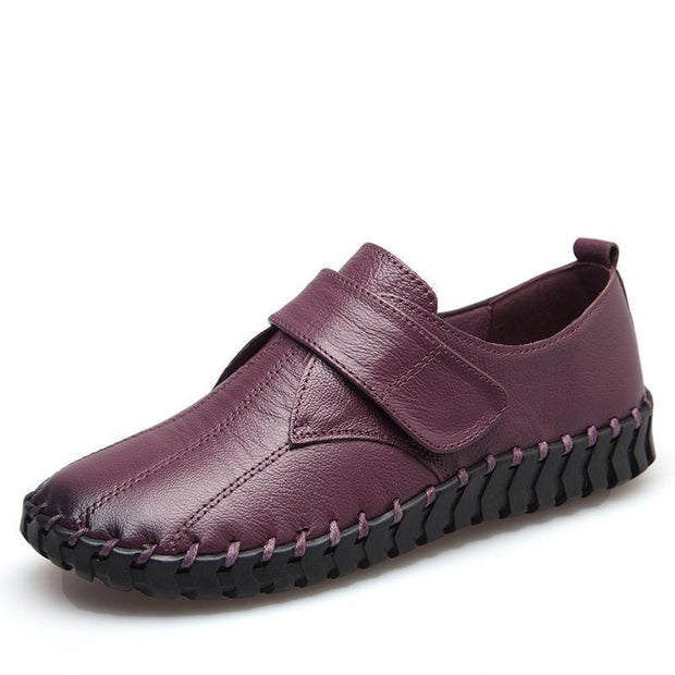 Women Hand-Sewn Soft Soles Single Shoes Comfortable Casual 122387 Violet / Us 4