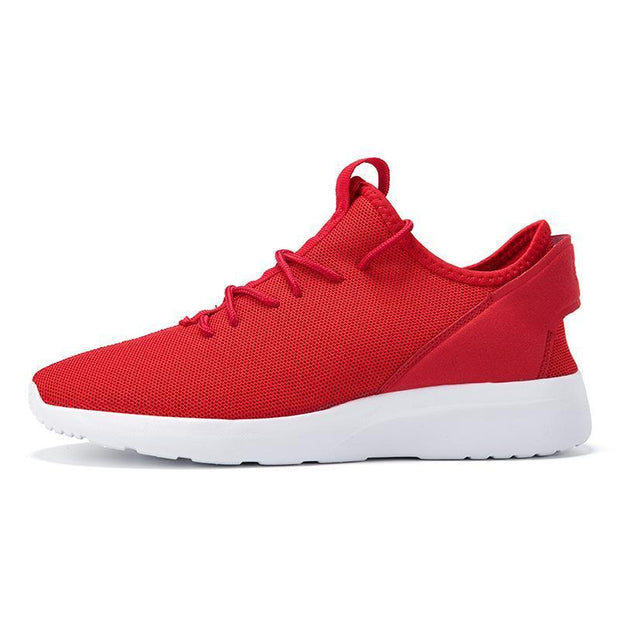 Mens Breathable Casual Shoes Flying Woven Lightweight Outdoor Sneakers Fashion Low-Help 122395 Red /