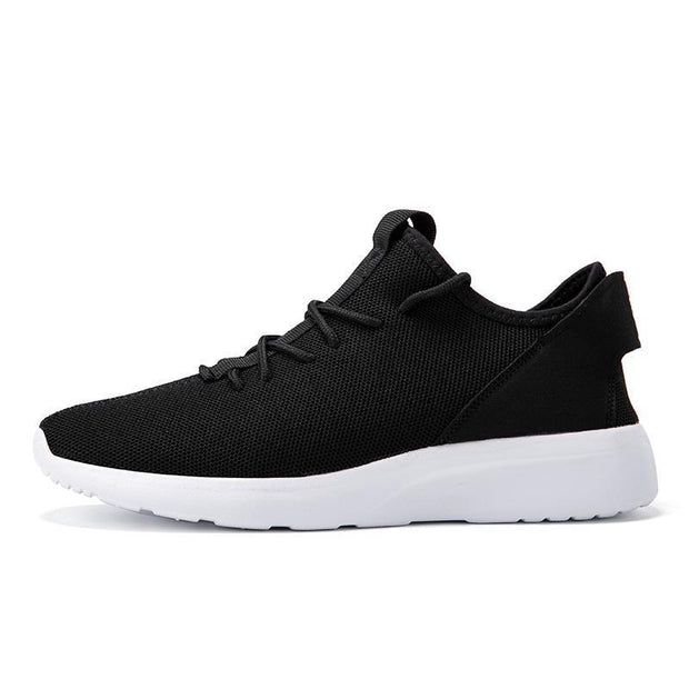 Mens Breathable Casual Shoes Flying Woven Lightweight Outdoor Sneakers Fashion Low-Help 122395 Black