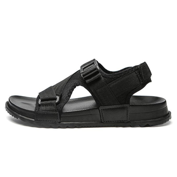 Mens Cool Breathable Sandals Comfortable Lightweight Flat Shoes Beach 122688 Black / Us 6 Men
