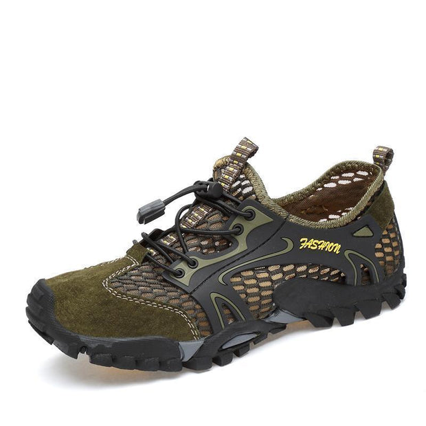 Mens Breathable Mesh Casual Light Outdoor Hiking Shoessecond -30% By Codebts30 122975 Green / Us 6
