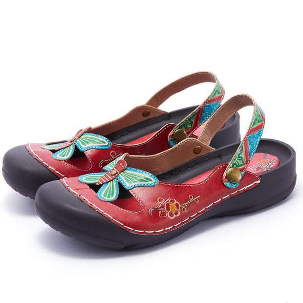 122279 Laura Vita Retro Genuine Leather Handmade Painted Velcro Original Comfortable Sandal Women