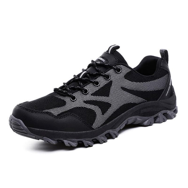 Mens Outdoor Hiking Shoes Non-Slip Breathable Flying Woven Casual 123496 Black / Us 6 Men Shoes