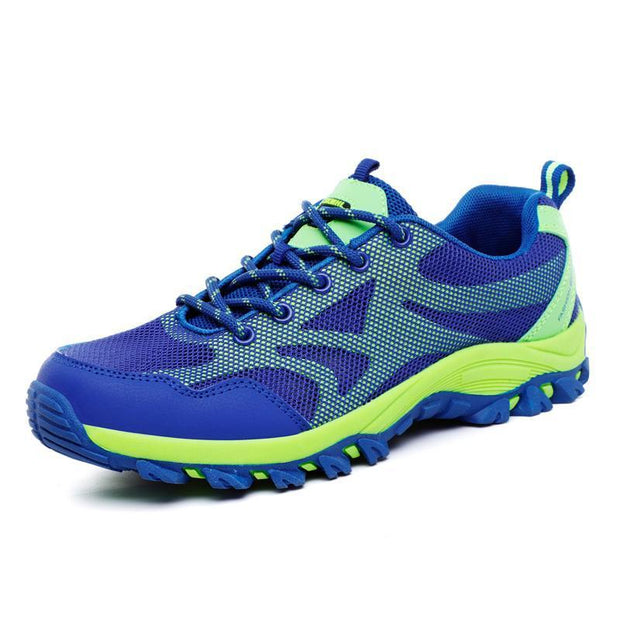 Mens Outdoor Hiking Shoes Non-Slip Breathable Flying Woven Casual 123496 Blue / Us 6 Men Shoes