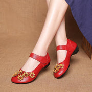 Woman Spring Summer Autumn Flower Surrounded Unique Soft Shoe Women Shoes