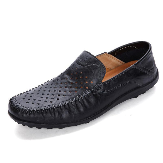 Mens Shoes Hollowed Out Peas Casual 123933 Black / Us 6 Men